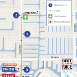 Cape Coral, FL - 5K Map - Best Damn Race